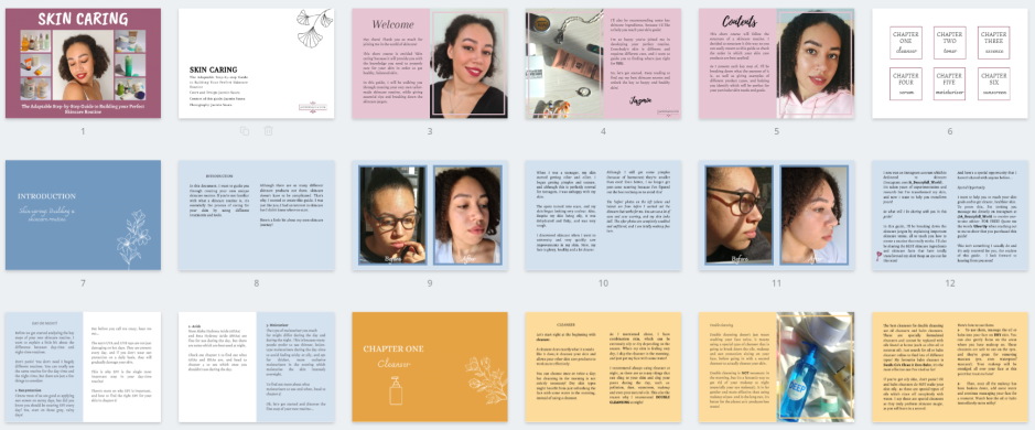 skincare pdf showing several pages.PNG